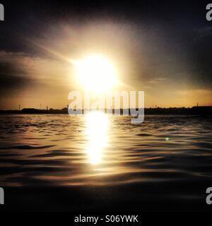 Bali sunset - Stock Photo