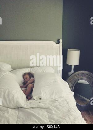 Sleeping baby girl. - Stock Photo
