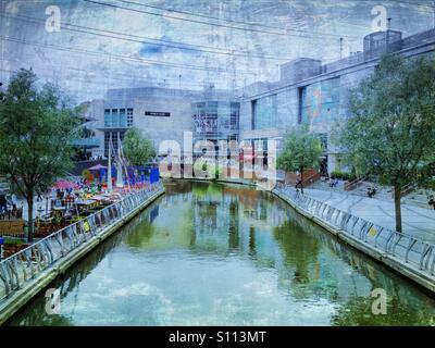 Riverside at The Oracle Shopping Centre in Reading. - Stock Photo