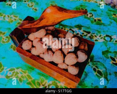Nutcracker suite on batik - Stock Photo