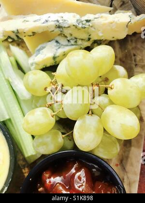 Cheese board platter - Stock Photo