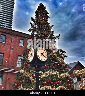 Toronto's Christmas Market at The Distillery District. - Stock Photo