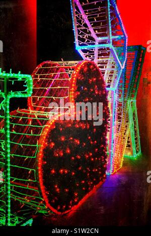 Katowice Airport Christmas lights display - Stock Photo