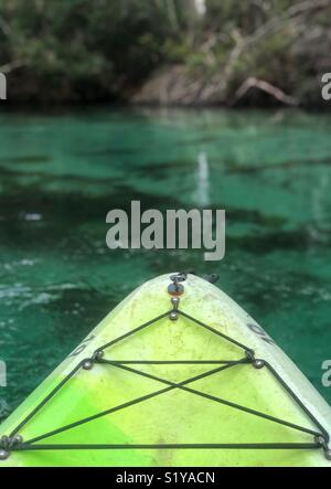 Kayaking Weeki Wachee Springs State Park in Florida - Stock Photo