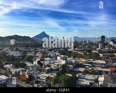 Cityscape of Monterrey, Mexico - Stock Photo