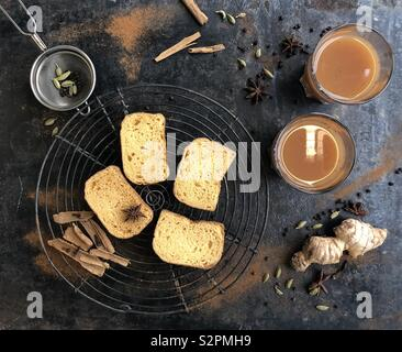 Indian Masala Chai with ginger & spice and all things nice! - Stock Photo