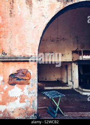 Abandoned property in Cancun, Mexico - Stock Photo