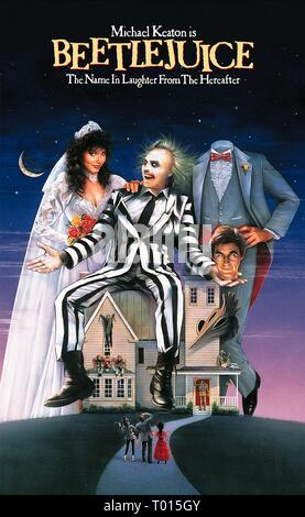 GEENA DAVIS, MICHAEL KEATON, ALEC BALDWIN, BEETLEJUICE, 1988 - Stock Photo