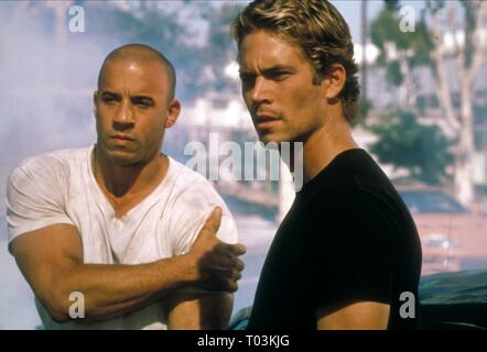 VIN DIESEL, PAUL WALKER, THE FAST AND THE FURIOUS, 2001 - Stock Photo
