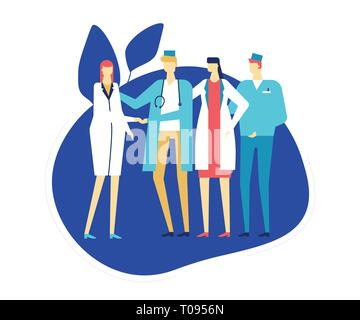 Medical staff - colorful flat design style illustration - Stock Photo