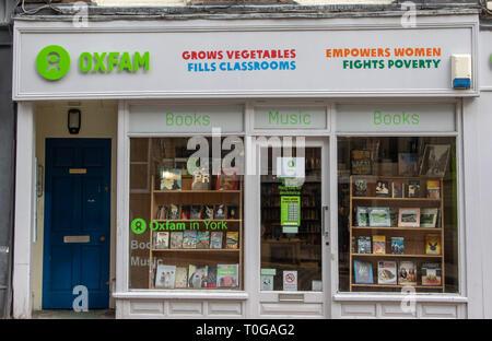 Oxfam charity shop on UK high street - Stock Photo