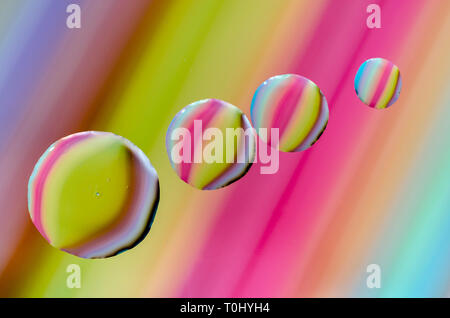 Multi colured macro photographs of various objects  suitable for cards, posters, wrapping paper etc. - Stock Photo