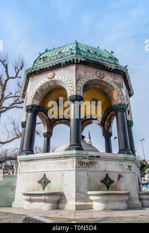 Istanbul, Turkey, 21 March 2007: German Fountain is an Ottoman Fountain in the Sultanahmet district of Istanbul. - Stock Photo