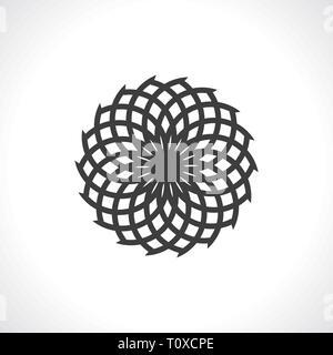 Mandala round ornament vector image - Stock Photo
