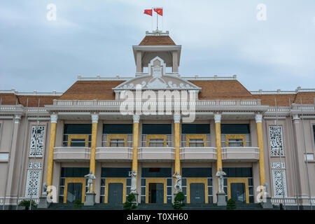 Nha Trang, Vietnam - Jan 26, 2016. Government building in Nha Trang, Vietnam. Nha Trang is a coastal resort city in southern Vietnam. - Stock Photo