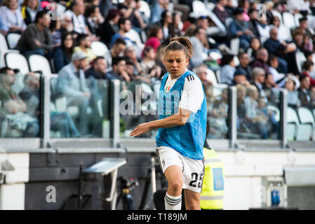 Turin, Italy. 24th Mar, 2019. Aleksandra Sikora during Juventus Women vs Fiorentina Women. Juventus Women won 1-0 at Allianz Stadium, in, Italy., . Credit: Alberto Gandolfo/Alamy Live News - Stock Photo