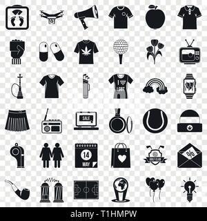 Man polo icons set, simple style - Stock Photo