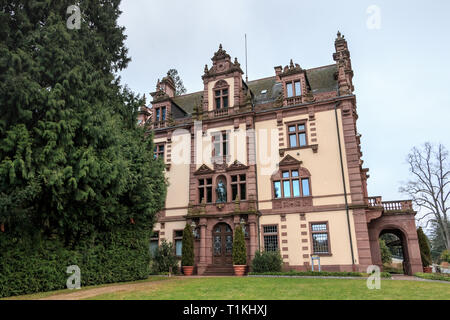Badenweiler, Germany - December 24, 2017: typical house architecture detail of this region on a winter day - Stock Photo