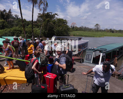 The bus and ferry terminal at Cano Blanco - Stock Photo
