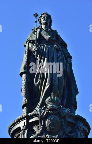 Catherine the Great bronze Monument. Built in XIX century. Ostrovsky square St.Petersburg Russia - Stock Photo