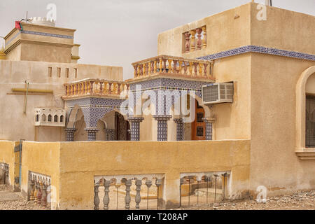Beautiful decorated house with ceramic tiles in Oman - Stock Photo