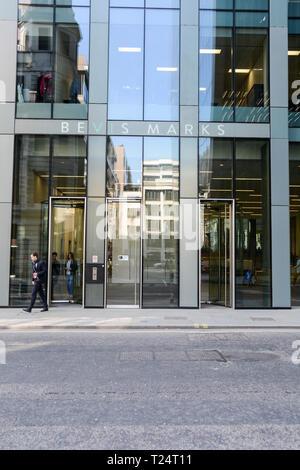 Entrance to Fletcher Priest 's 6 Bevis Marks, City of London, EC3, UK - Stock Photo
