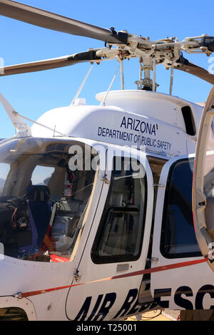 Close up of a Bell Jetranger helicopter of the Arizona Department of Public Safety - Stock Photo