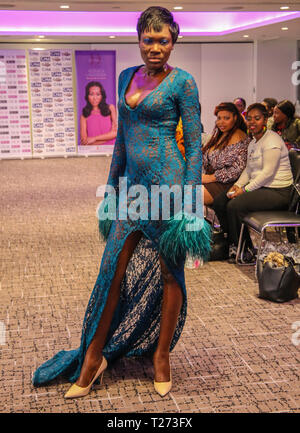 London, UK, 30th March 2019.  Divas of Color was created to give women of color a voice, bring them together, give the contributions, achievements and beauty of women of color.The festival is held every spring,  to commemorate International women's month with activities such as Fashion show, Trade show, conference, and awards.  Divas of Colour focuses on raising awareness on particular issue affecting women of color in particular.Having dealt with Depression supporting Depression Alliance, domestic violence supporting Glowing Future, The girl Child supporting Girl Child Network and Star Childr - Stock Photo