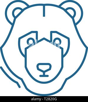 Bear trend line icon concept. Bear trend flat  vector symbol, sign, outline illustration. - Stock Photo