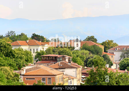 View of the old town in Plovdiv, Bulgaria - Stock Photo