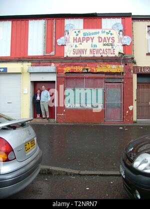Happy days in Sunny Newcastle, County Down - Stock Photo