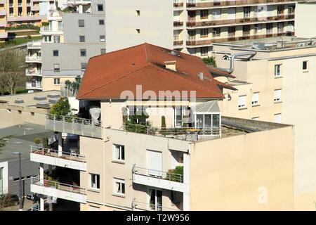 Illustration of the city of Saint Etienne, Montaud - Grand Clos district. Saint Etienne, Loire, France - Stock Photo