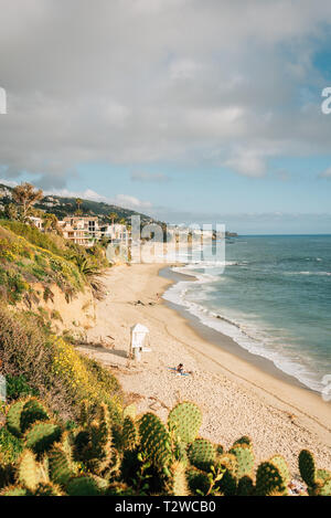 View of the beach at Treasure Island Park, in Laguna Beach, Orange County, California - Stock Photo