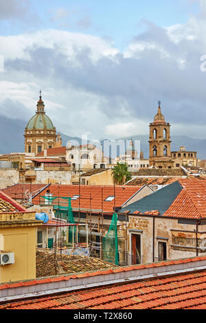 The old town of Palermo in Sicily, Italy - Stock Photo