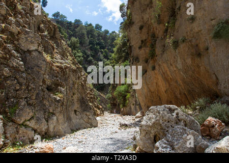 Schlucht bei Agios Nikolaos, gorge near Agios Nikolaos - Stock Photo
