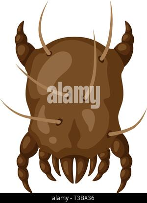Icon dust mite insect. Illustration solated on white background. - Stock Photo