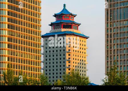 Hotel Beijing Palace Soluxe, Astana, Kazakhstan - Stock Photo