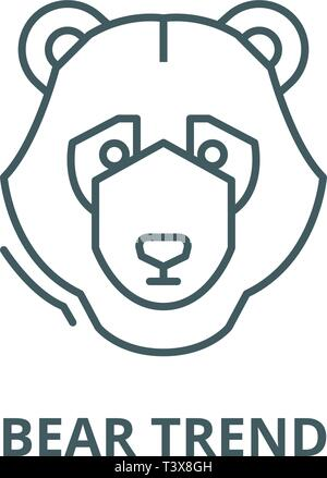 Bear trend line icon, vector. Bear trend outline sign, concept symbol, flat illustration - Stock Photo