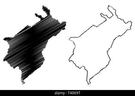 Merida State (Bolivarian Republic of Venezuela, States, Federal Dependencies and Capital District) map vector illustration, scribble sketch Bolivarian - Stock Photo