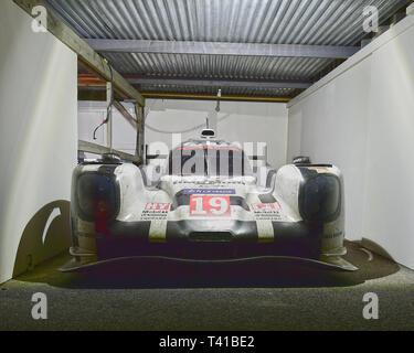 Porsche 919 Hybrid, LMP, Le Mans Cars, 77th Members Meeting, Goodwood, West Sussex, England, April 2019, Autosport, cars, circuit racing, classic cars - Stock Photo