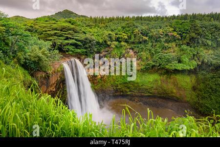 Wailua Falls, Kauai, Hawaii - Stock Photo