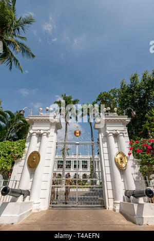 Horizontal Vertical Square view of the Government House in Pondicherry, India. - Stock Photo