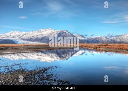 Flaajokull, Hofn, Austurland, Iceland, Europe - Stock Photo