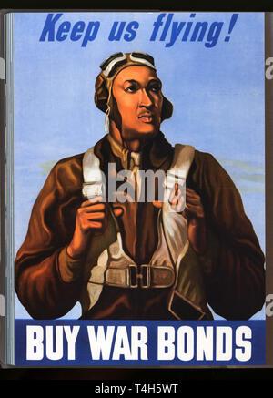 vintage 1940s advertising poster art - Stock Photo