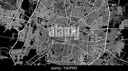 Urban vector city map of Merida, Mexico - Stock Photo