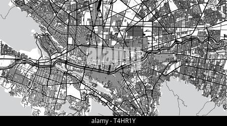 Urban vector city map of Monterrey, Mexico - Stock Photo