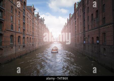 Speicherstadt, Hamburg, Germany, Europe - Stock Photo