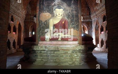 Phya Sa Shwe Gu Temple, Bagan Archaeological Zone, Myanmar - Stock Photo