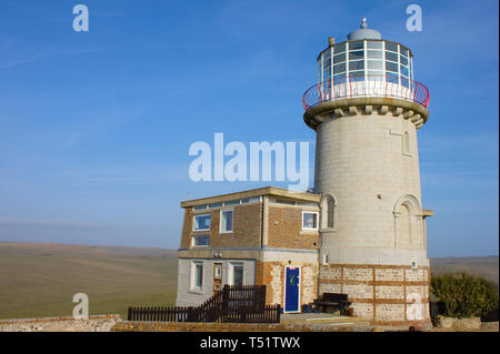 Lighthouse at Birling Gap, United Kingdom - Stock Photo