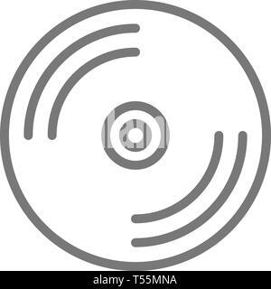 CD disk, DVD line icon. - Stock Photo